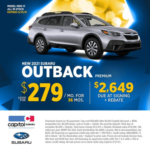 2021 Subaru Outback Premium Lease Special in Salem, OR